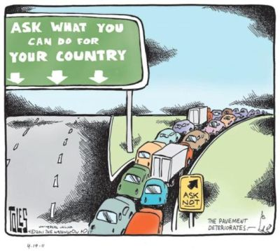tom toles ask what you can do for your country