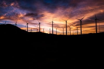 Wind Turbine Sunset by Master Wen on Unsplash