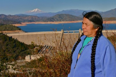 Winnemem wintu chief caleen sisk at shasta dam