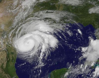 hurricane harvey slams into texas