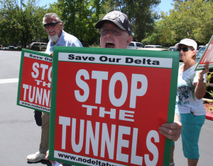 Stop the Delta Tunnels protest