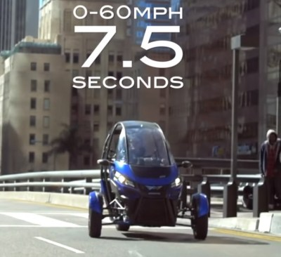 arcimoto 0-60 in 7.5 seconds