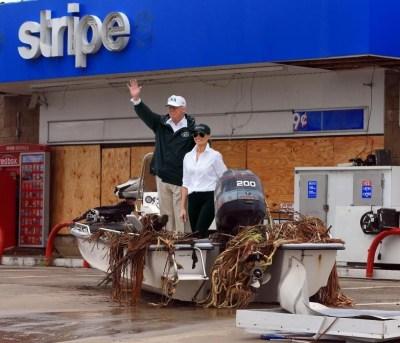 Hurricane Harvey Trump visits texas