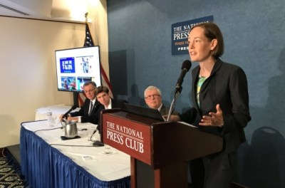 Mary Anne Hitt defends the EPA at the National Press Club