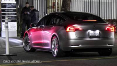 Tesla Model 3 demo by kyle field