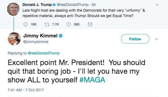 jimmy kimmel twitter donald turmp