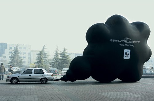 WWF blackcloud from CO2 tailpipe exhaust