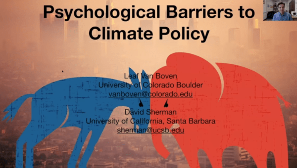 on climate change, Democrats support Democratic initiatives, and GOP supports GOP initiatives