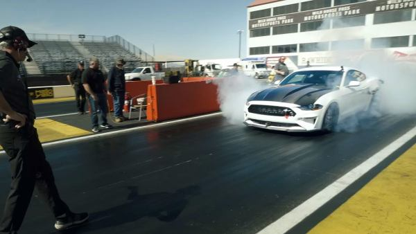 Electric Mustang Cobra Jet 1400 staging, image courtesy Ford