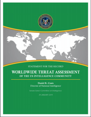 Worldwide threat assessment by US intelligence community presaged the Coronavirus pandemic