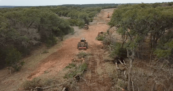 Workers clear land for the Permian Highway Pipeline. Source: Big Ingen Media