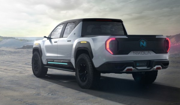 Nikola Badger fuel-cell-supplemented electric pickup truck, with 600 mile range using batteries and hydrogen