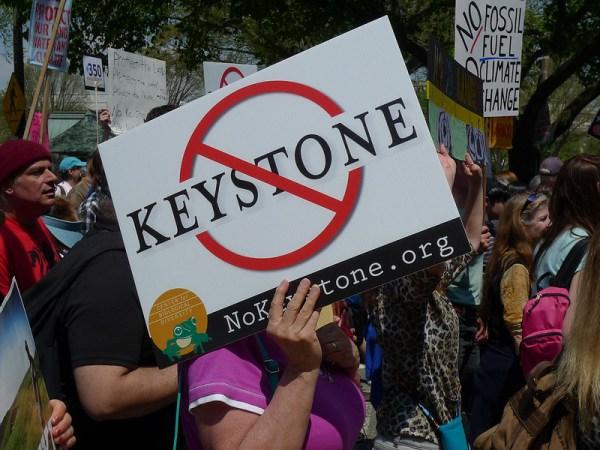 Keystone XL pipeline protest NO KXL