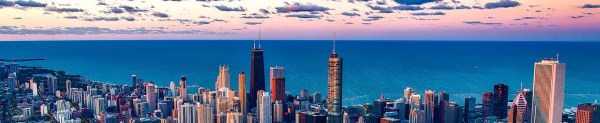 Lake Michigan as viewed from Chicago. Source: Pixabay