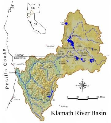 The Klamath River Basin. Source: U.S. Bureau of Reclamation