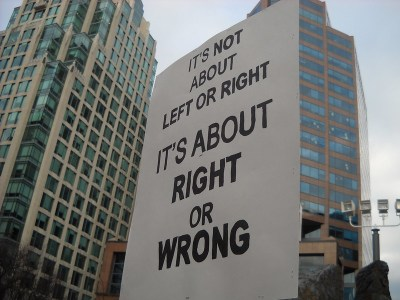 protest sign science justice It's About Right and Wrong