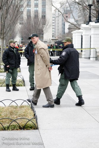 Bill McKibben is arrested protesting the Keystone XL pipeline in front of the White House