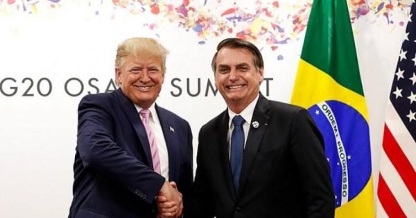 Donald Trump and Jair Bolsonaro (Alan Santos/PR via Wikimedia Commons)