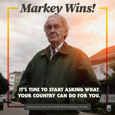 Sunrise movement 'The Age of Incrementalism Is Over,' declares Green New Deal champion Ed Markey after defeating Joe Kennedy III