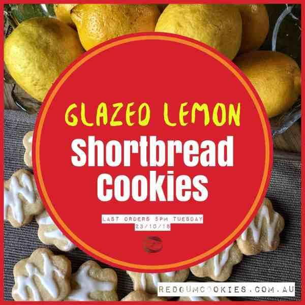 Glazed Lemon Shortbread Cookies - Redgum Cookie Company