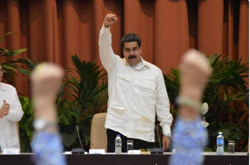 Nicolás Maduro Moros, Presidente de la República Bolivariana de Venezuela, en la plenaria especial sobre el pensamiento de Fidel, durante el XXIV Encuentro del Foro de Sao Paulo, efectuado en el Palacio de Convenciones, La Habana, el 17 de julio de 2018
