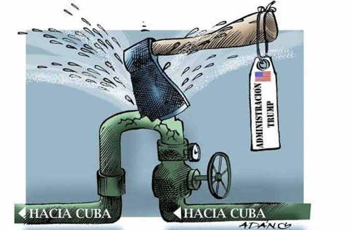 Bloqueo genocida a Cuba
