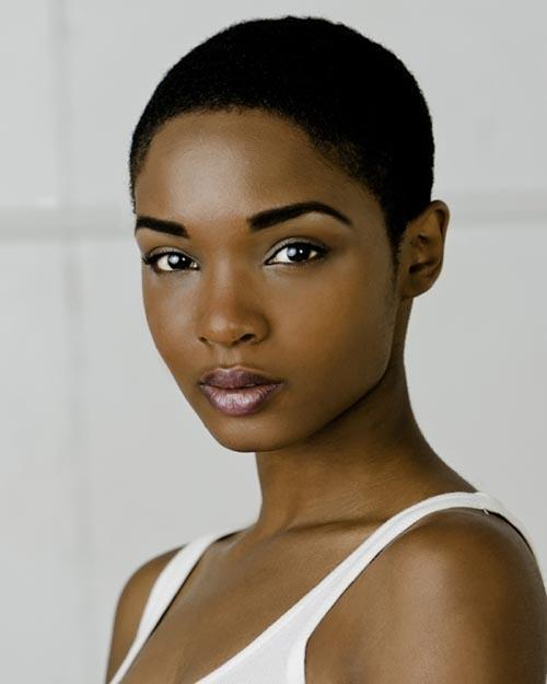 Short African American natural hairstyle