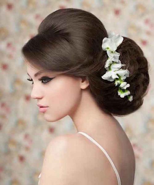 Hairstyle with updo