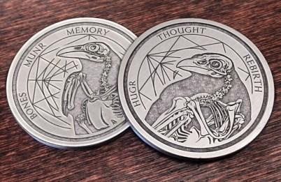 Bones Raven Coin
