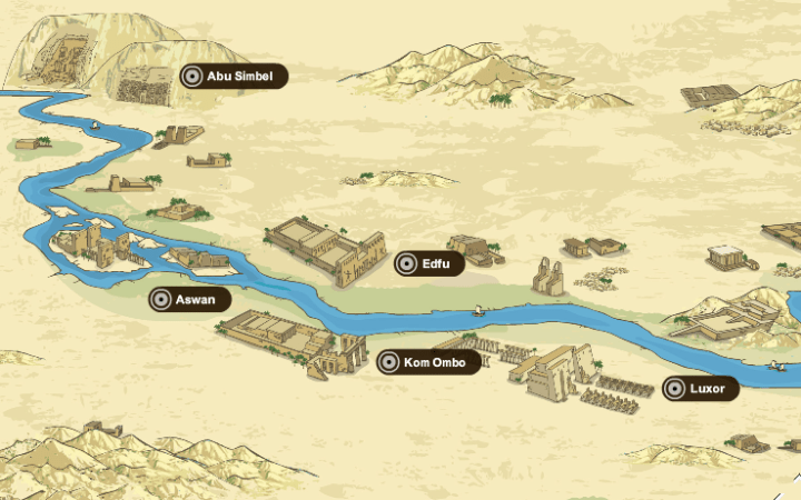 Temples and sites between Luxor and Aswan