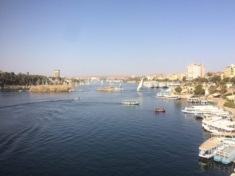 view of nile river in aswan, egypt