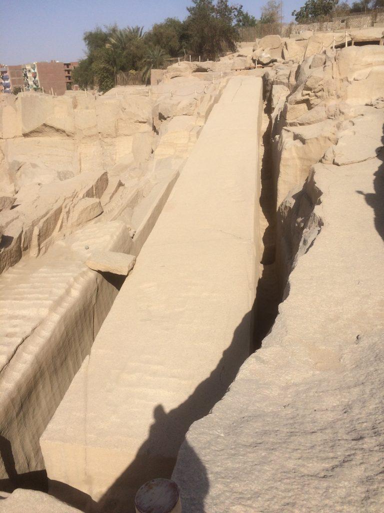 unfinished obelisk in aswan, egypt