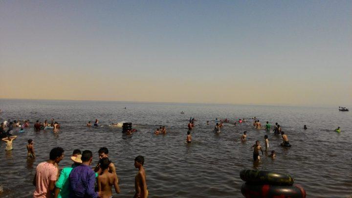 local tourist in lake qarun
