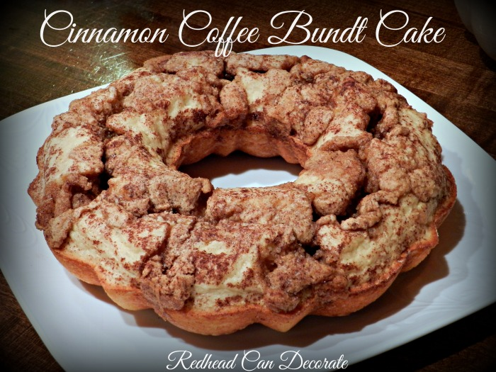 Cinnamon Coffee Bundt Cake Recipe