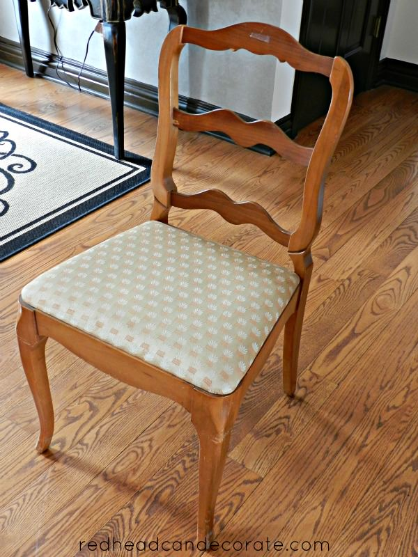 Reupholstered Dining Room Chair 1