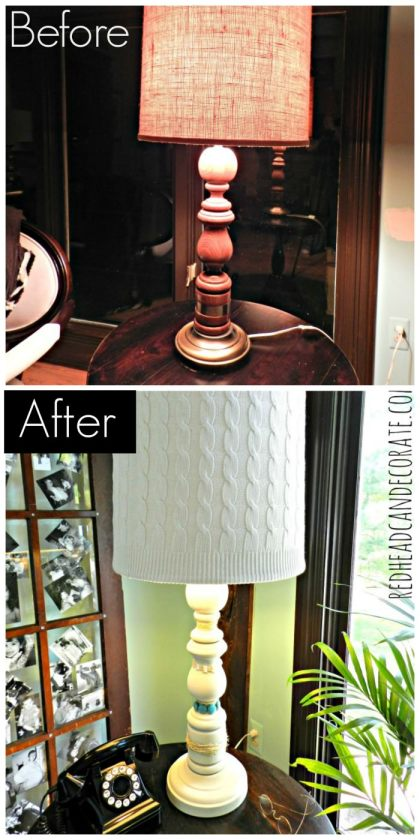 Lamp Makeover Redheadcandecorate.com