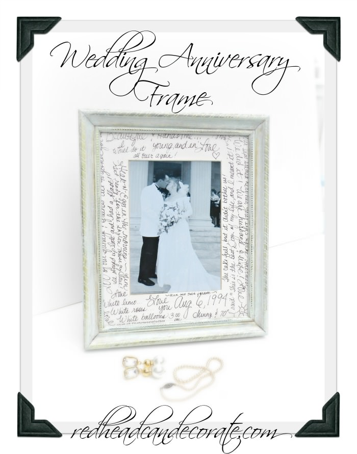 Wedding Anniversary Frame