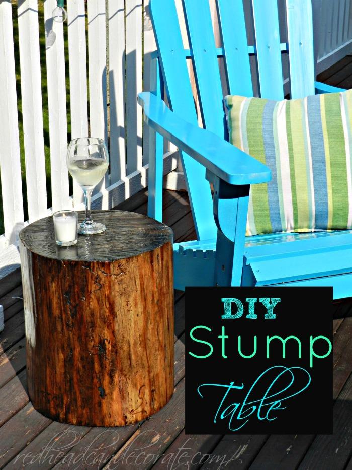 Stump Turned Table