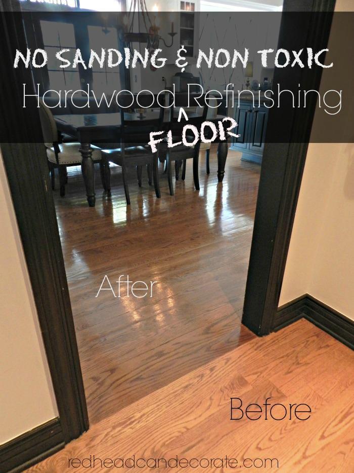 No sanding non toxic wood floor refinishing redhead can decorate wood floor refinishing with no sanding or toxic chemicals solutioingenieria Choice Image