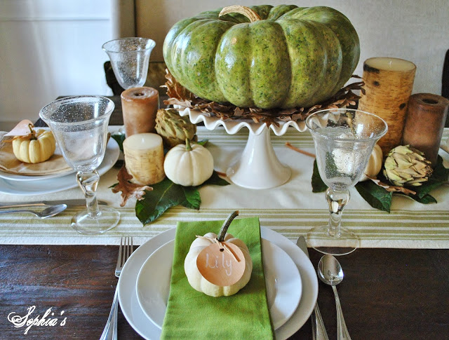Sophia's Green and Natural Table
