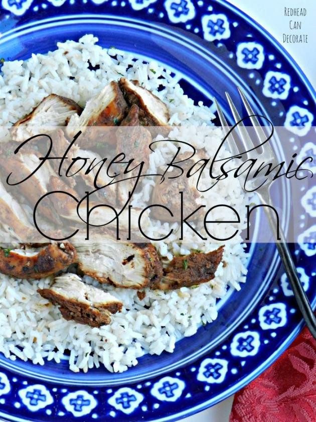 Honey Balsamic Chicken Recipe by redheadcandecorate.com
