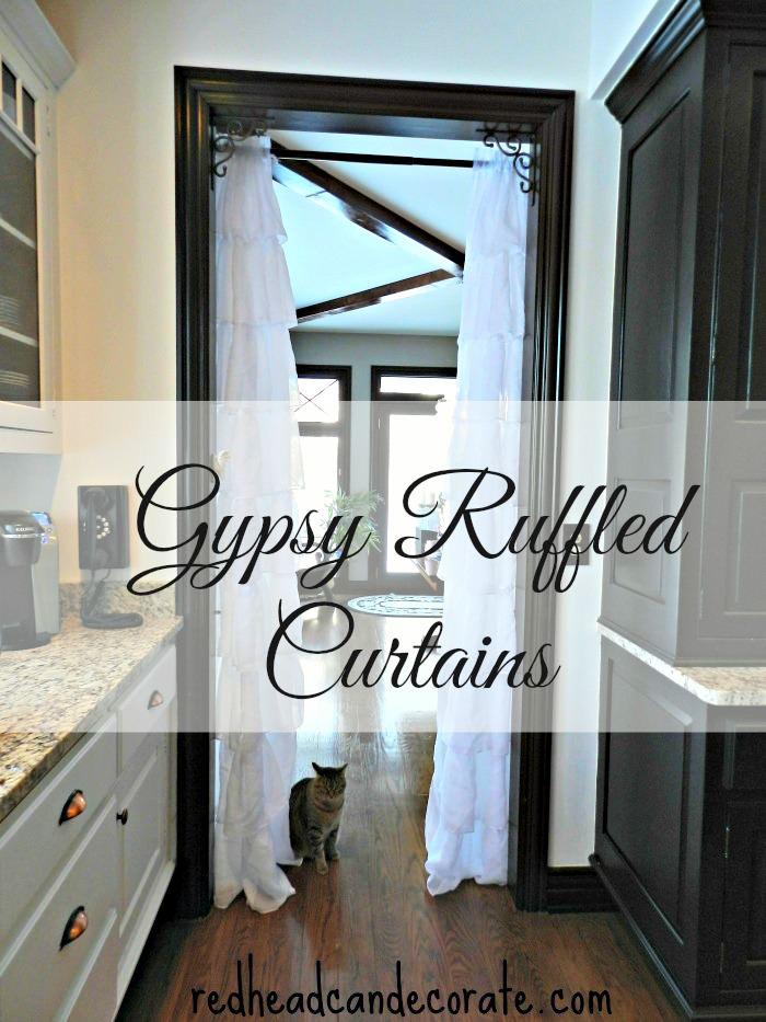 Gypsey Ruffled Curtain Ideas