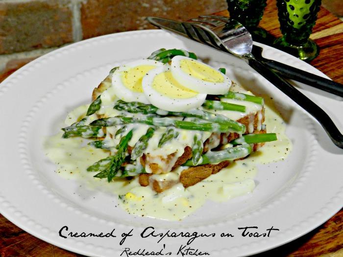 Creamed of Asparagus on Toast