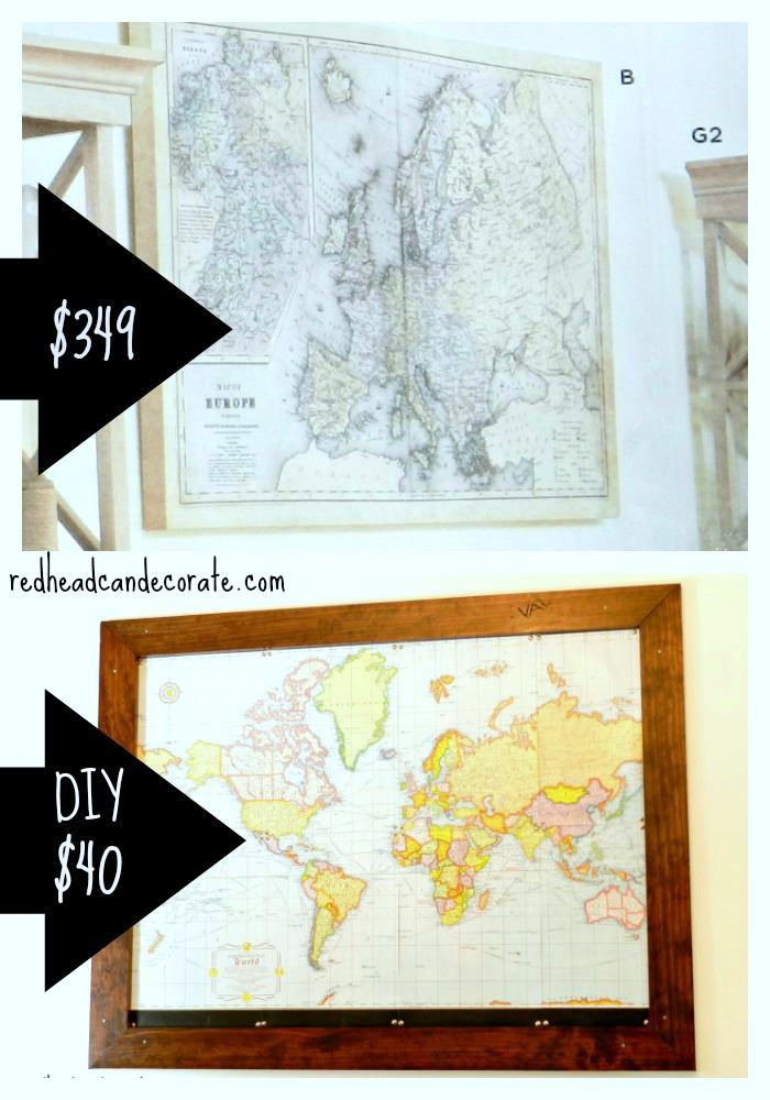 Make Your Own Framed Map For Way Less
