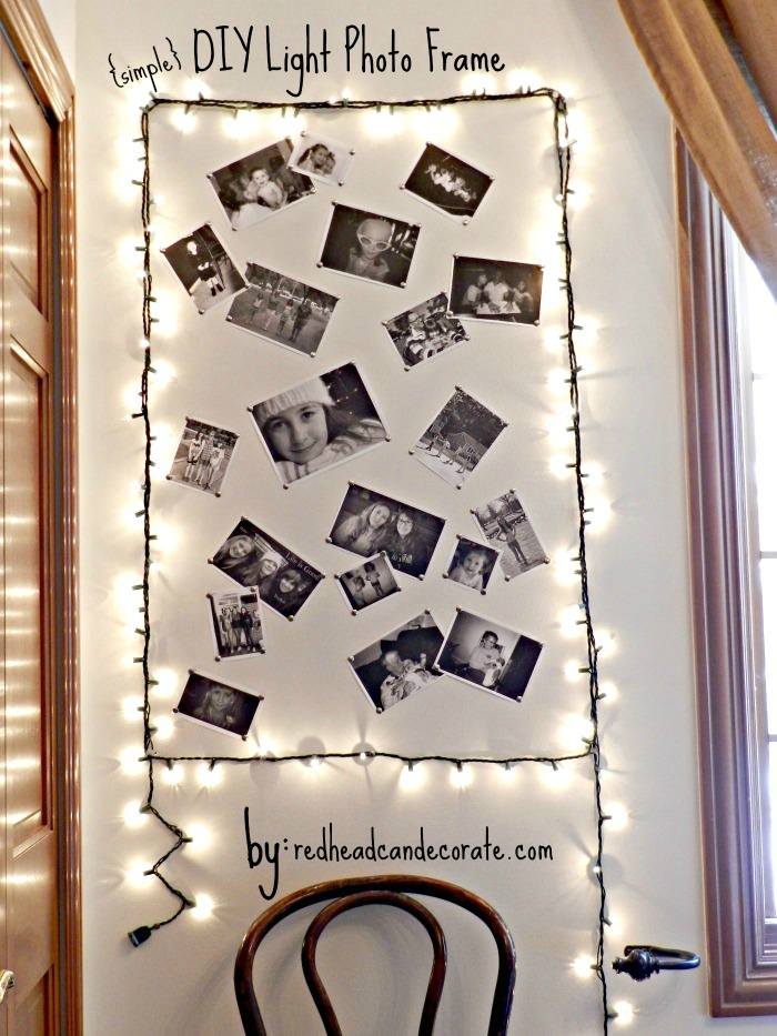 Simple DIY LIGHT PHOTO FRAME