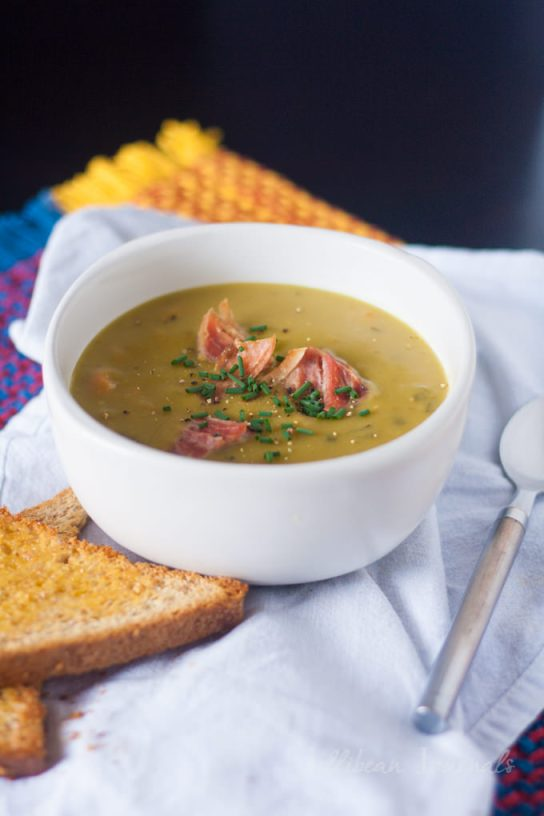 Pea Soup Recipe by Jellibean Journals @ Redhead's Kitchen