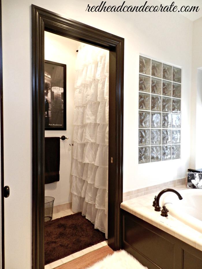 Ruffle Curtain On Shower Door