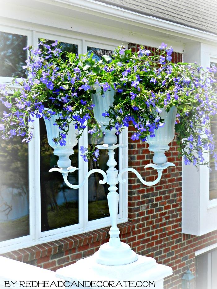 DIY Candelabra Flower Pot