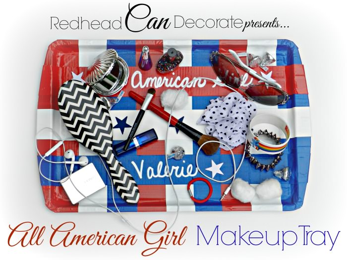 All Things Patriotic   50 Patriotic Ideas, Recipes, Crafts  DIY Duct Tape Makeup Tray