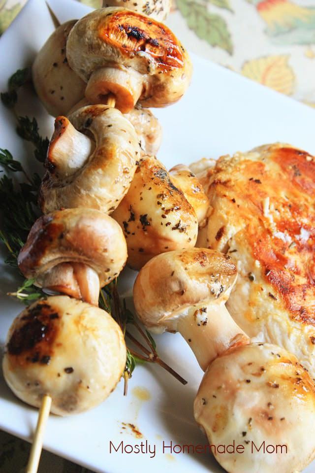 Garlic Butter Grilled Mushrooms 2
